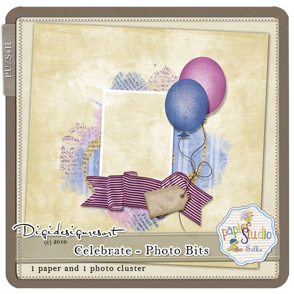 Only for FEW Days!! DigidesignResort Newsletter Freebie! 1 paper, 1 cluster and a surprise goodie inside.