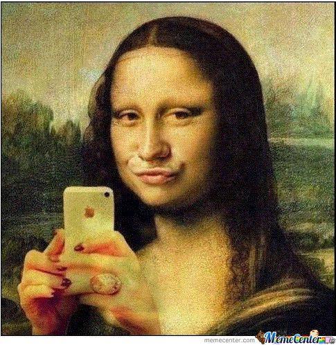 Rifatta #selfie #gioconda