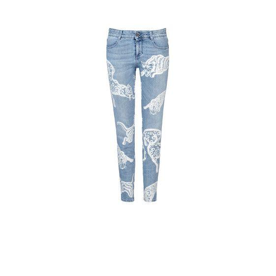 Stella McCartney - White Wild Cat Skinny Ankle Grazer Jeans - AI15 - f
