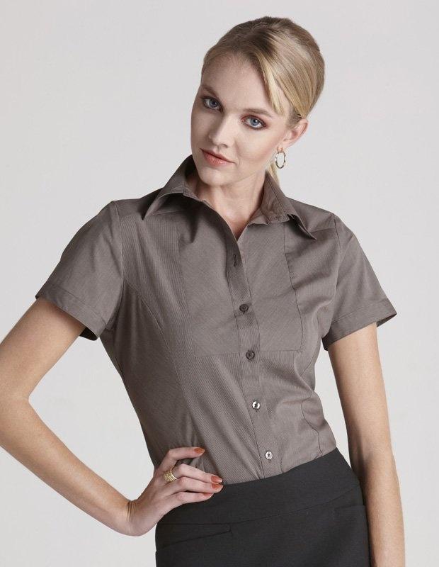Chevron Ladies Short Sleeve Shirt - S122LS