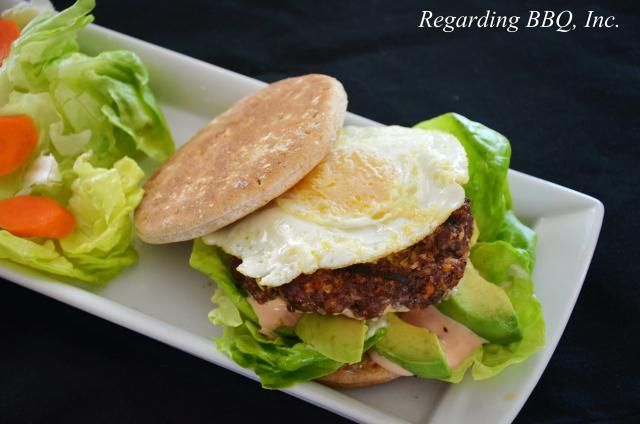 If you are looking for something a little different in a burger then this just might be the one for you. These tasty patties are dished up on thin sandwich buns, topped with a fried egg and a simple burger sauce.