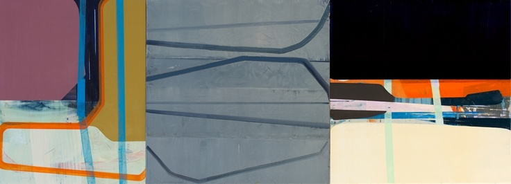 """The Over-Under""; 2012; oil on panel; 20 inches by 56 inches"