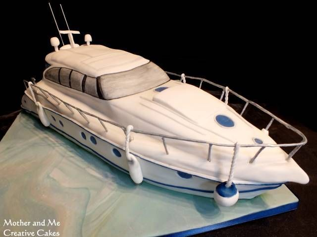 A huge boat cake made for the MD of Niblock Building Contractors who loves his Yacht more than anything else!