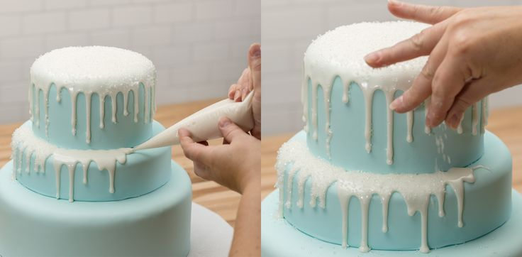 How-To Make a Three-Tier Frozen Birthday Cake Icicles
