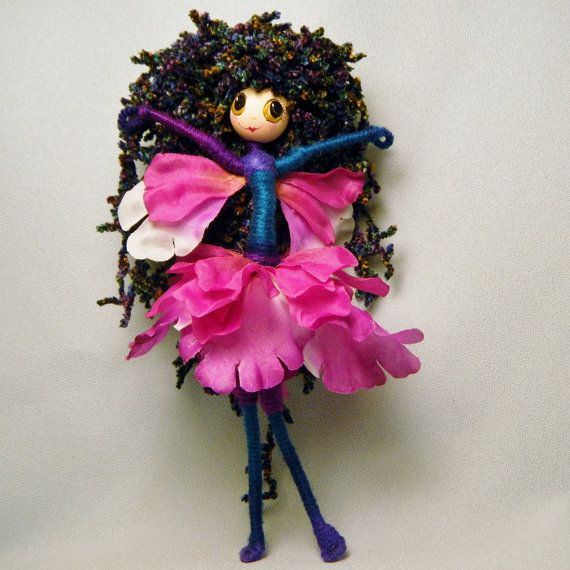 I am Magical..............I am a Flower Fairy!   You will receive the doll in the photos, she is finished and ready to ship.  My dolls are hand