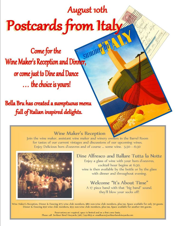 postcards from italy postcards things to do italy flyers events see ...