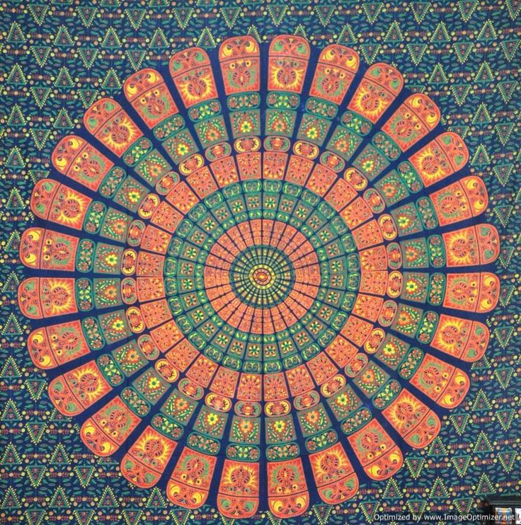 L phant mandala hippie hippie tapisserie tapisseries for Decoration murale mandala
