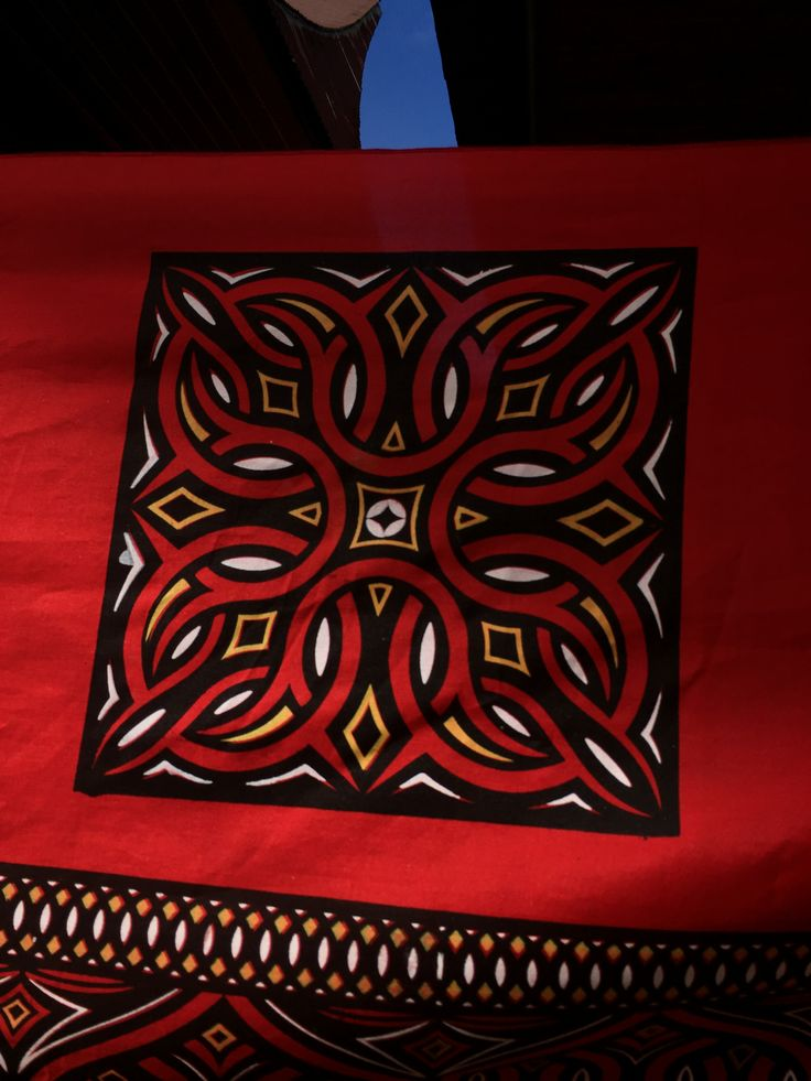 Motif on a Torajan Tongkonan (house)