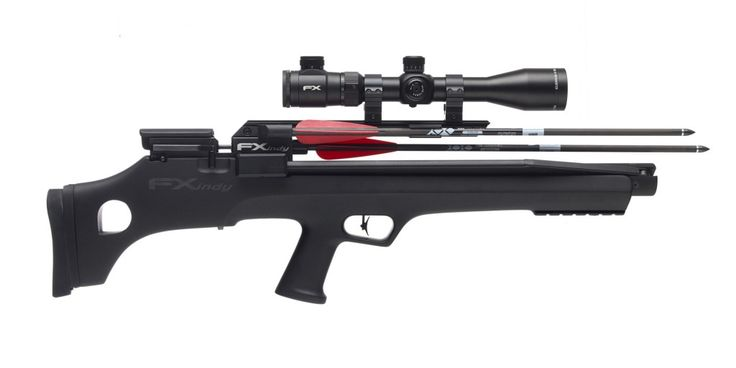 FX Airguns » The Indy Arrow is a compressed air gun that shoots arrows or lead pellets.