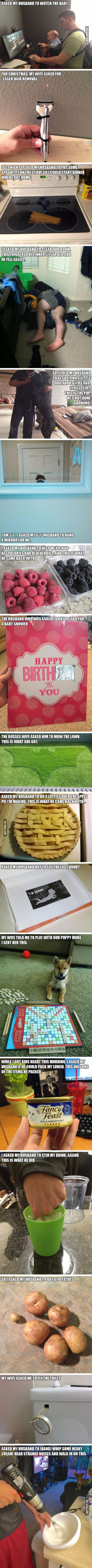 17 Images That Prove Husbands Just Can't Follow Directions