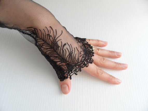 Wedding Gloves black  Italian lace wedding by WEDDINGHome on Etsy, $29.00: Lace Weddings, Gloves Black, Weddings Gloves, Wedding Gloves