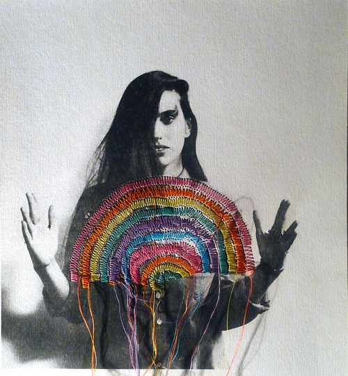 Colorful Embroidered Photographs