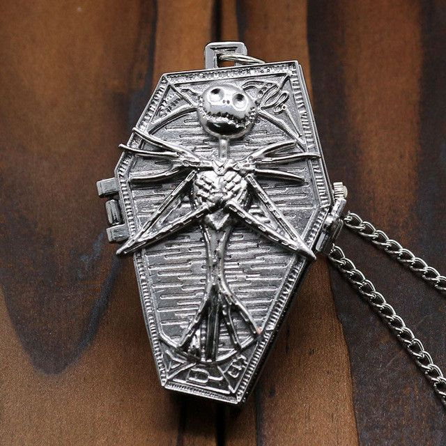 Nightmare Before Christmas Pocket Watch Necklace
