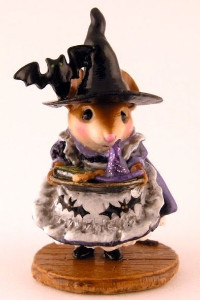 WEE FOREST FOLK  SPECIAL COLOR WITCH TEACHERS PET SIGNED & NUMBERED SOLD OUT