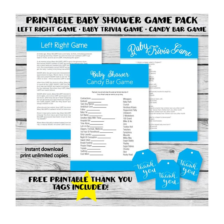 We Bundled Our Top 3 Baby Shower Games To Make Your Planning Easier! FREE  Printable Favor Tags Too!