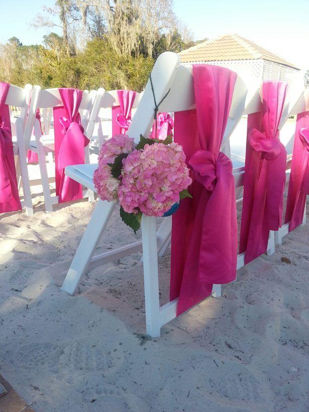 wedding chair covers derby massage cushion for fuchsia lamour satin sashes white resin chairs | beach weddings pinterest ...