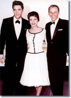 Elvis Presley, Nancy and Frank Sinatra