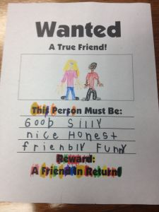 I got this GREAT idea from one of our 2nd grade teachers who makes these every year with her students and turns them into a cute friendship book. I made these with my 1st grade boys social skills g...