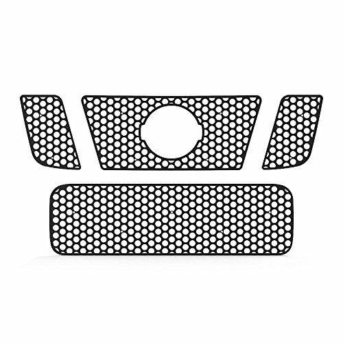 Black Powdercoat Circle Punch Grille Grill Insert Trim fits: 2008-2014 Nissan Titan - Ferreus Industries - TRK-136-03black