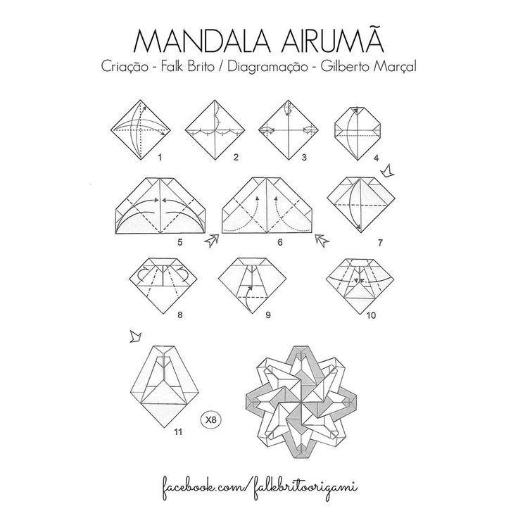 2294 best Origami Mandalas, Estrelas e Tea Bag Folding