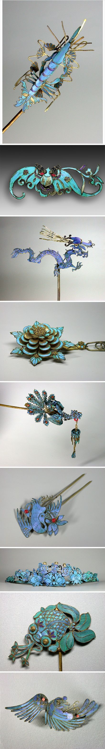 Traditional Chinese hair pins
