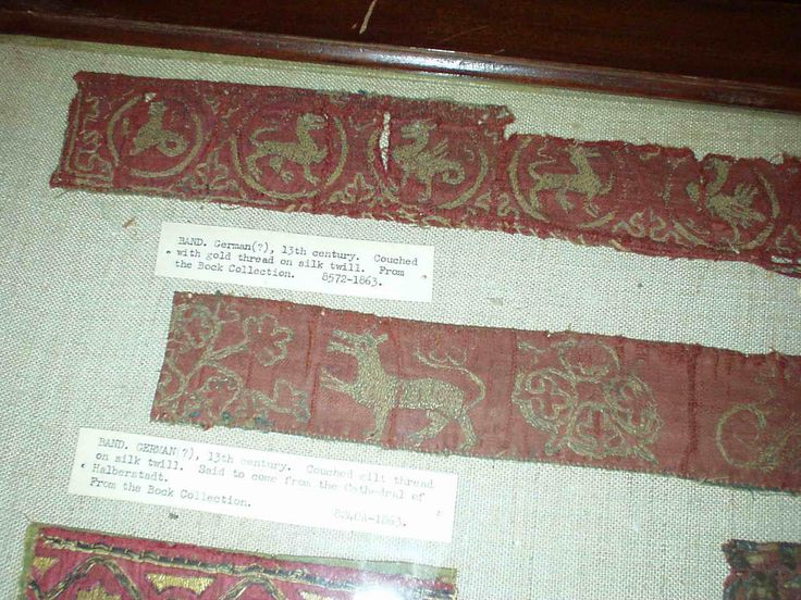 13th c. German embroidery (couching)