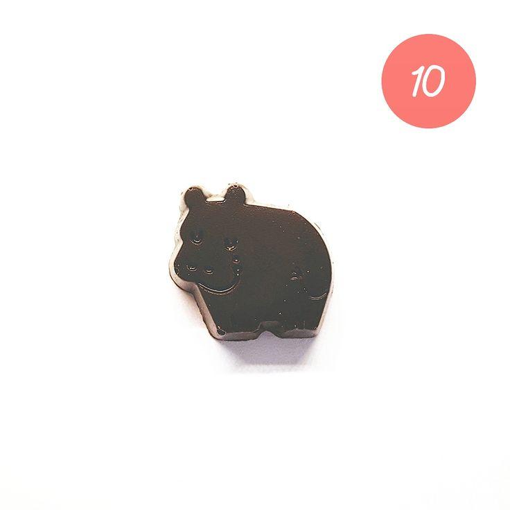 CHRISTMAS GIFT #10 Des petits chocolats tout mignons  #ideecadeau #giftidea #cadeaudenoel #christmasgift #lastminutegift #darkchocolate #chocolatnoir #belgianchocolate #baruchocolates #hippo #cute #food #miam #blog #alinaerium