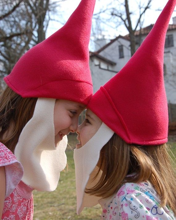 Fleece Gnome Hat with Removable Beard Costume by MysticMoor, $15.00
