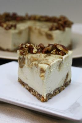 Caramel Apple Cheesecake - Healthy, Raw, Gluten Free, Vegan -         Photo & Recipe Credit: sweetlyraw.com Check out this unbelievable raw cheesecake – this is ingenious and simply terrific to gape at too! The recipe calls for a lesser known sweetener, Lucuma – check it out on FoodSniffr.This recipe is raw, gluten free, healthy, vegan, and vegetarian. #vegan, #vegetarian, #glute