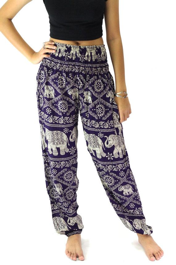 Elephant pants /Hippies pants /Boho pants one by Waverleytiedye