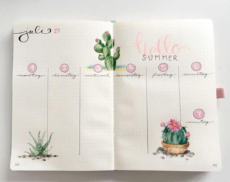 Sommer ist eindeutig meine Lieblingszeit 🏖 #bulletjournal #bujo #planner #bul…