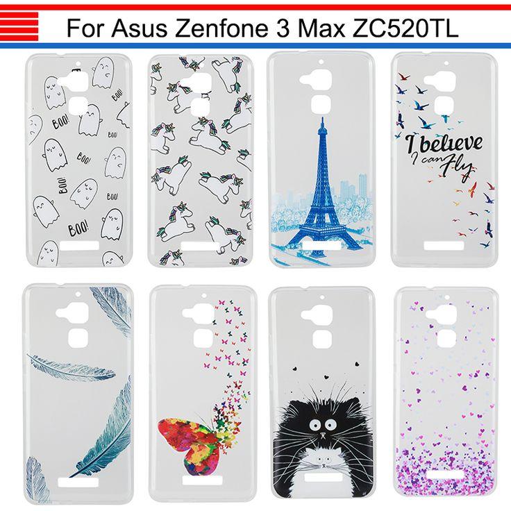 JURCHEN Case For ASUS Zenfone 3 Max ZC520TL Case Cover 5.2 Cartoon Cute TPU Silicone Soft Case For ASUS Zenfone 3 ZC520TL Case