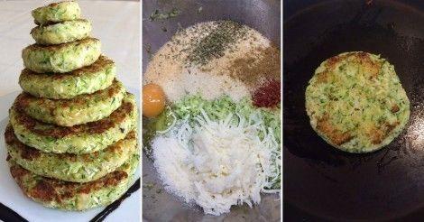 Hamburguesas de Calabacín ::: Lava, seca y ralla un zucchini grande. Escurre y agrega un huevo, 50 gr de queso parmesano rallado, 120 gr de pan rallado, sal, pimienta negra, pimentón dulce, cebolla en polvo, orégano, comino en polvo y ajo en polvo. Mezcla. Arma las torticas. Cocínalas en una plancha pincelada con un poco de aceite vegetal.