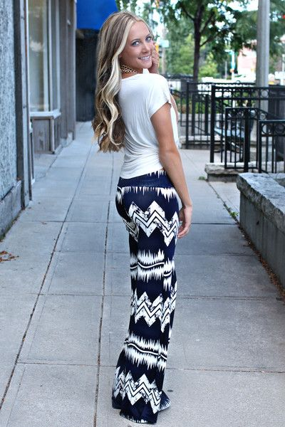 Zig to My Zag Palazzo Pants - I want these pants to be a shirt!