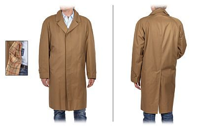 Burberry coat   Burberry, England. Men Model. Generously cut, probably around 52/54.   1970s.    Length from shoulder to coat edge: 103   Width of arm opening for armholes: 67