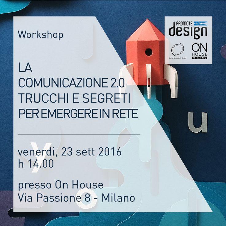 Oggi terremo un #workshop a inviti per un gruppo di Designers in partnership con Promote Design - #DesignFor sulla #comunicazione #digitale nel settore industrial #design. La sensibilità al tema in questo settore aumenta ogni giorno di più e noi siamo orgogliosi di poter dare un contributo in questa direzione!  #DSforDESIGN