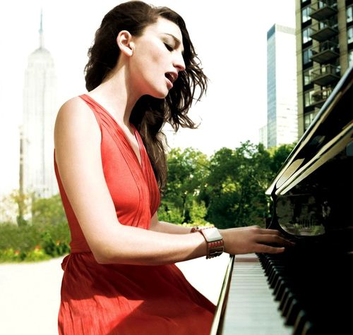 Sara Bareilles... was thinking hen you were talking about photos that if it were possible to take your keyboard outside into an urban setting, would look v.cool - not even so much about you - but you in your environment?