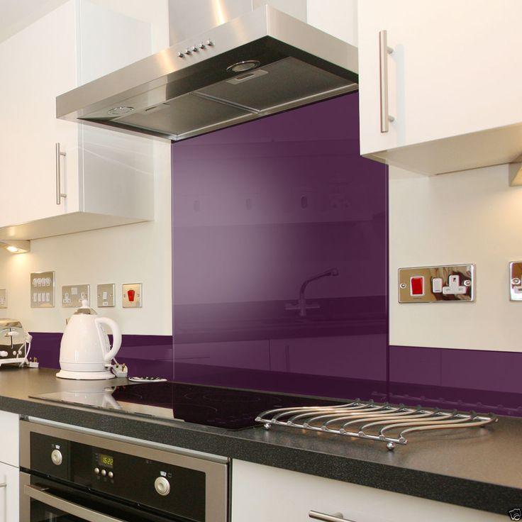 Details About Deep Purple Glass Splashback Upstand In