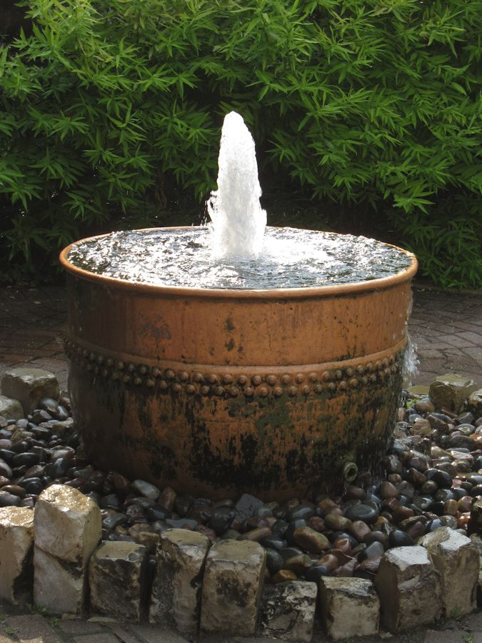398 best rustic water features images on pinterest for Backyard pond fountains