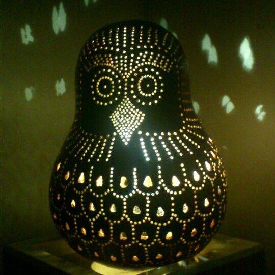 Gourd lamp owl
