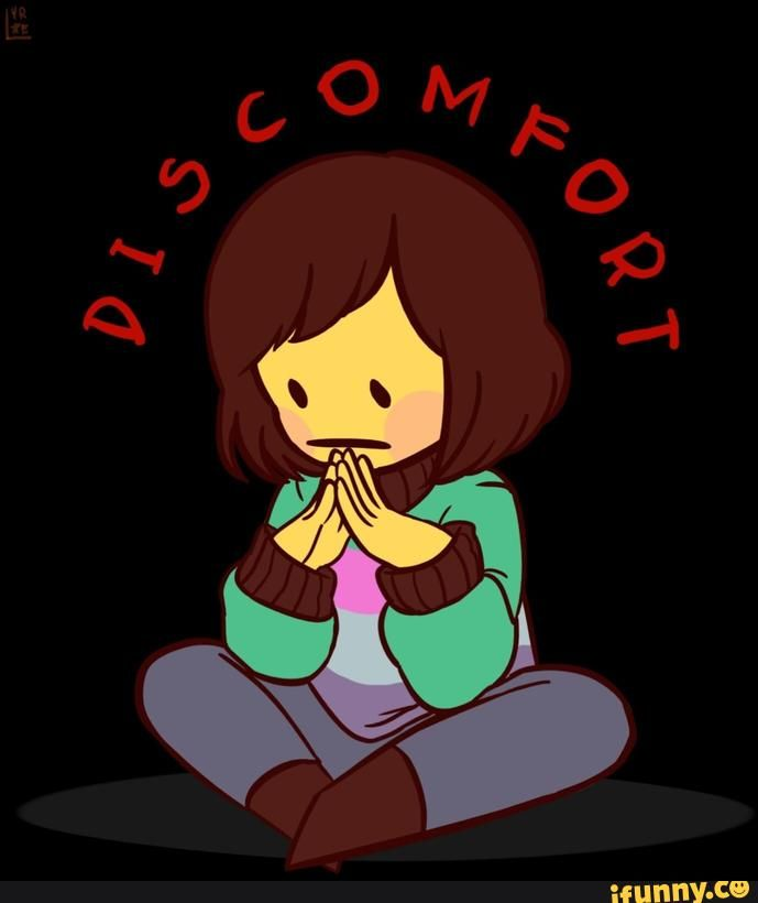 chara and frisk fusion chisk discomfort undertale