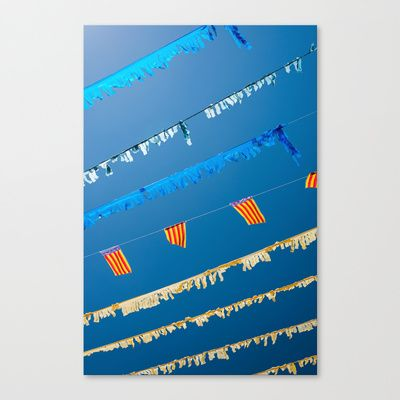 Spanish Street Bunting Canvas Print by Essentialimage(™) - $85.00