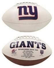 New York Giants Football Full Size Embroidered Signature Series New York Giants Full Size Embroidered Signature Series Football - SKIBAS DEPOT
