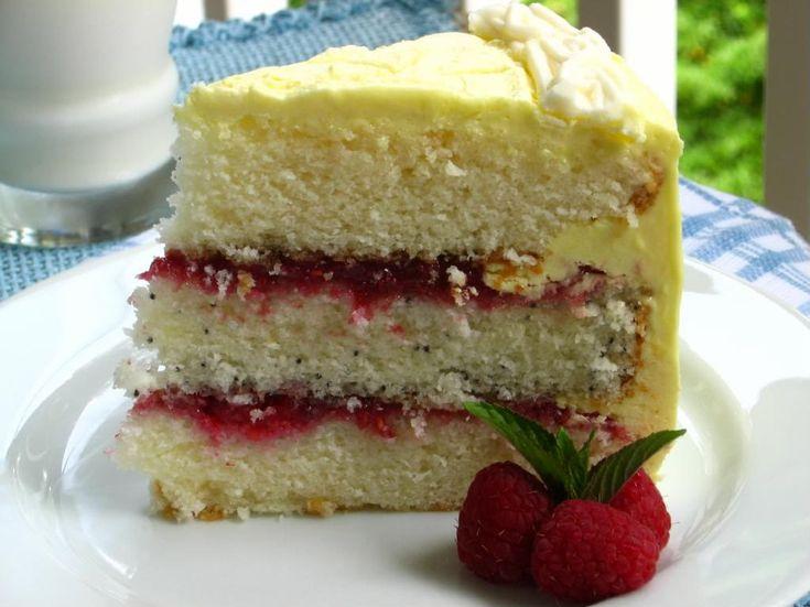 Lemon Raspberry Cake. | Nom nom | Pinterest