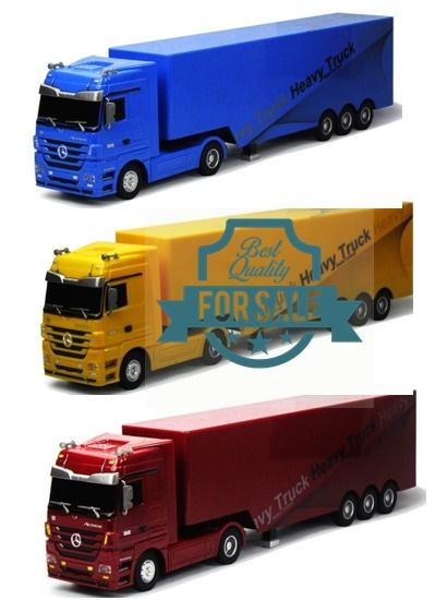 Radio Remote Control 6CH RC Heavy Truck Mercedes Benz Trailer 1:32 Scale RTR #MERCEDESBENZ