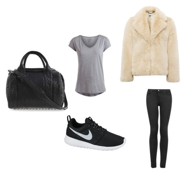 F #1 by dianatairum on Polyvore featuring Pieces, Whistles, Topshop, NIKE and Alexander Wang