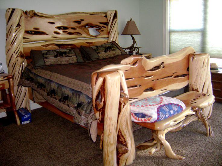 Juniper Bed Driftwood FurnitureLog Ideas - New driftwood bedroom furniture Luxury