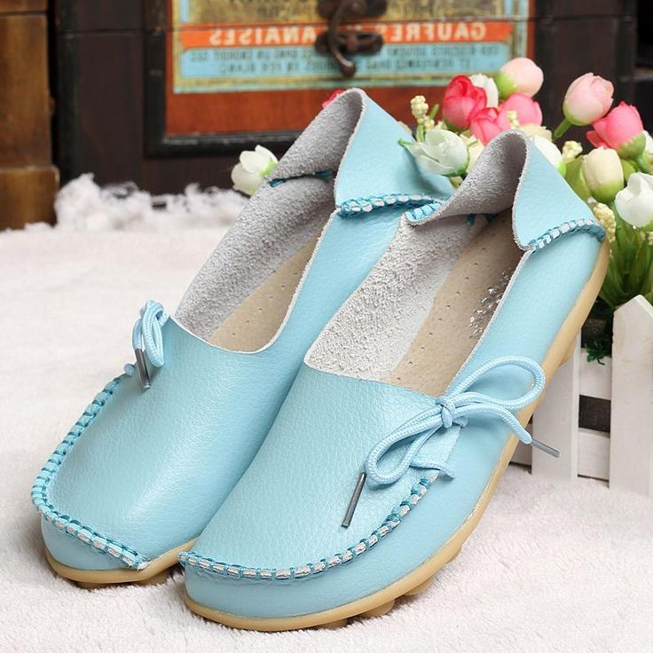 Women Real Leather Loafers Soft Leisure Casual Footwear