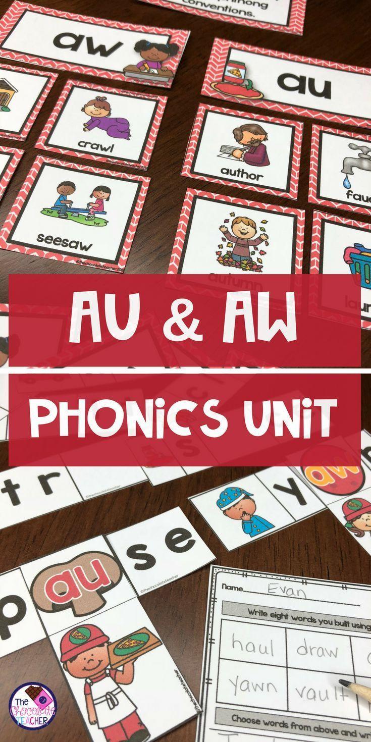 AU \u0026 AW Phonics Activities and Worksheets   Phonics activities [ 1470 x 735 Pixel ]
