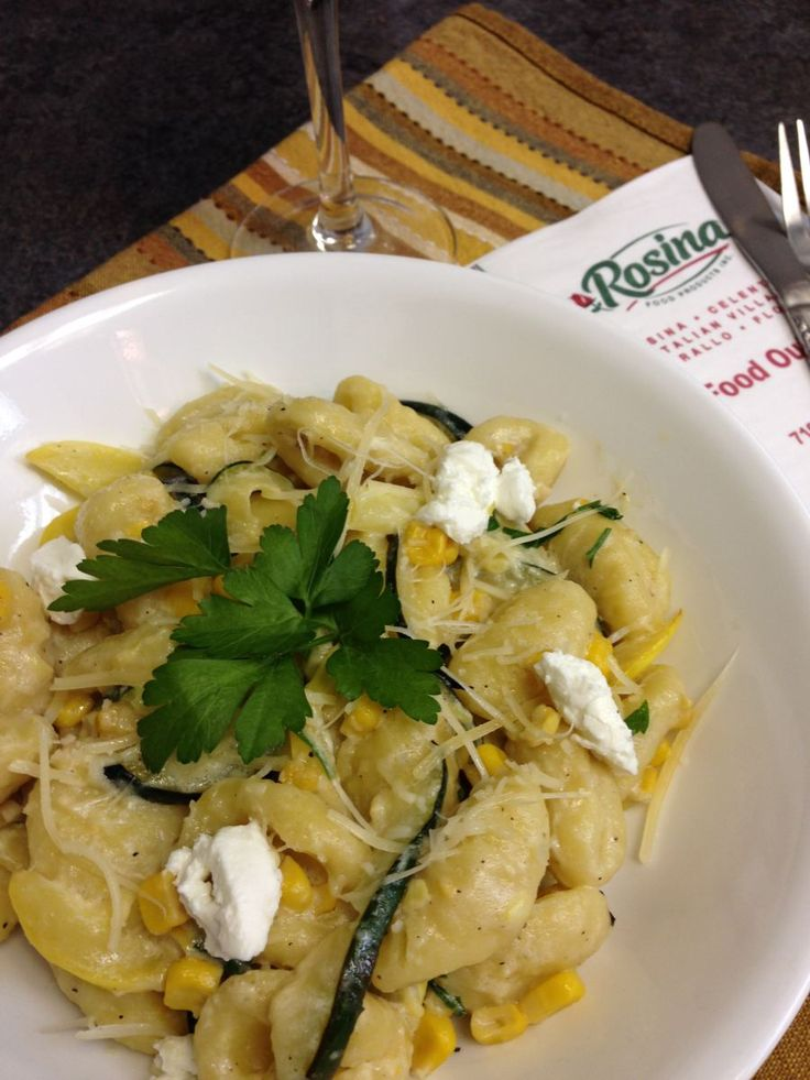 Gnocchi with Squash & Sweet Corn - Click on the picture to go to our ...